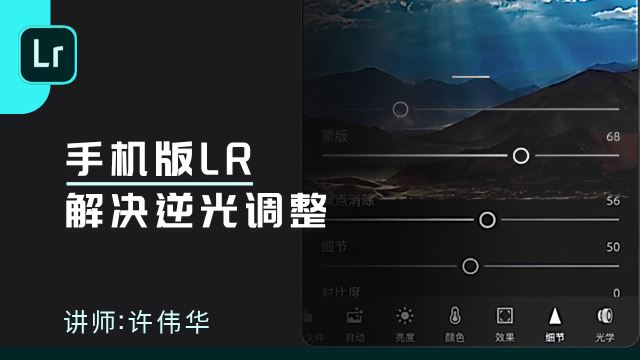 手机版LR解决逆光调整