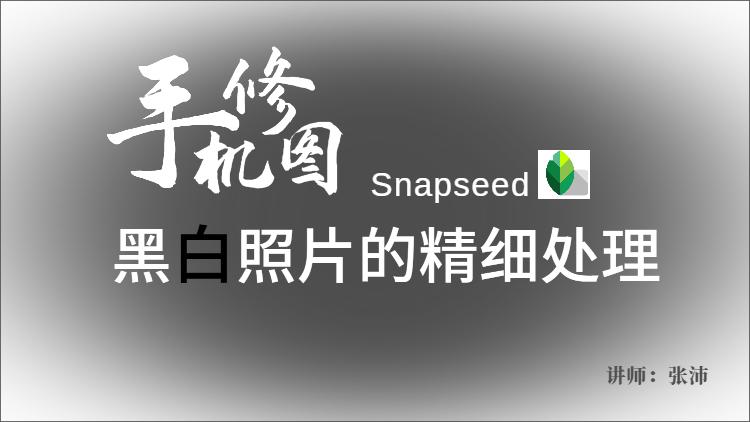 【手机修图】Snapseed黑白照片的精细处理