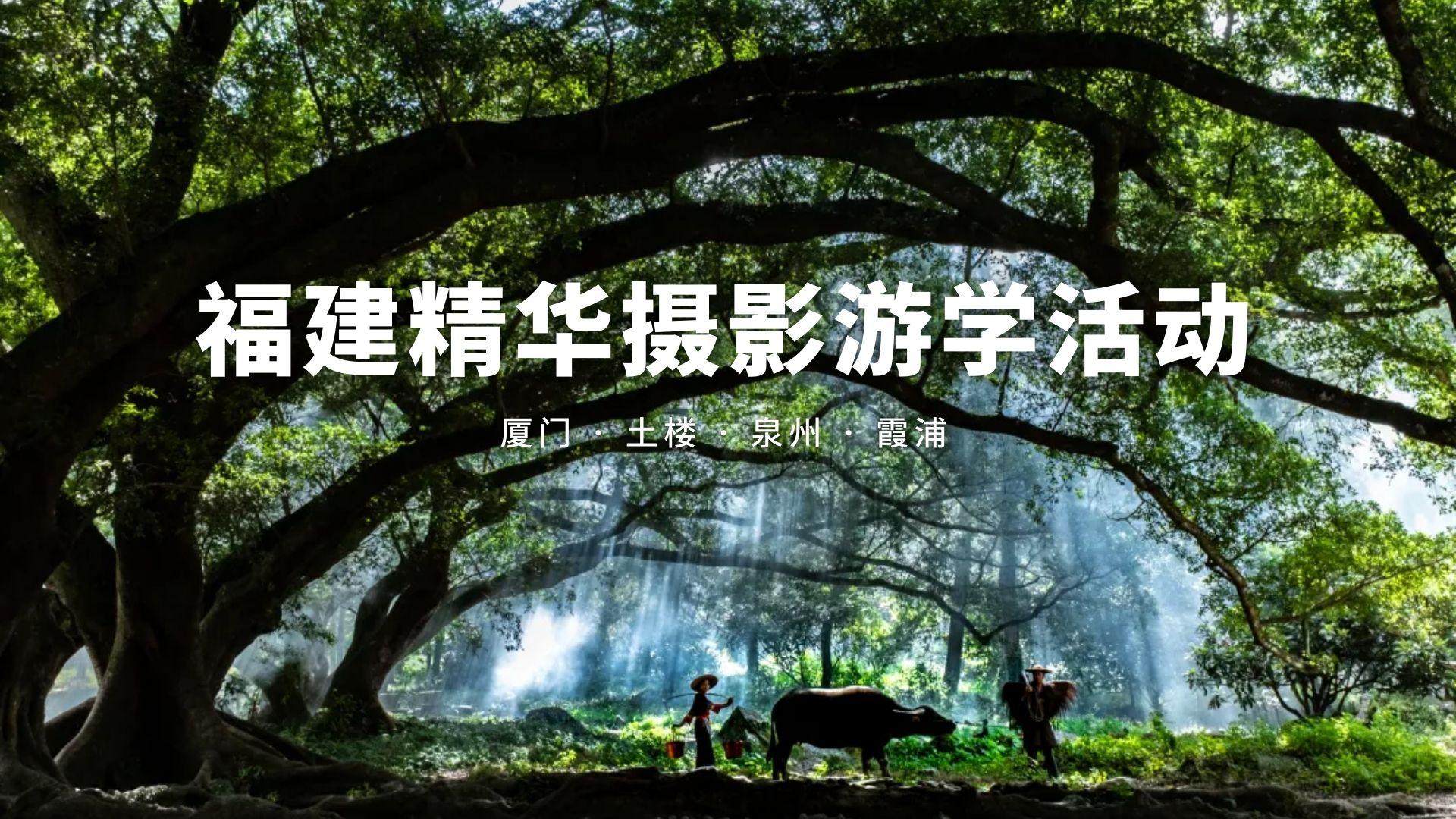 福建精华摄影游学活动